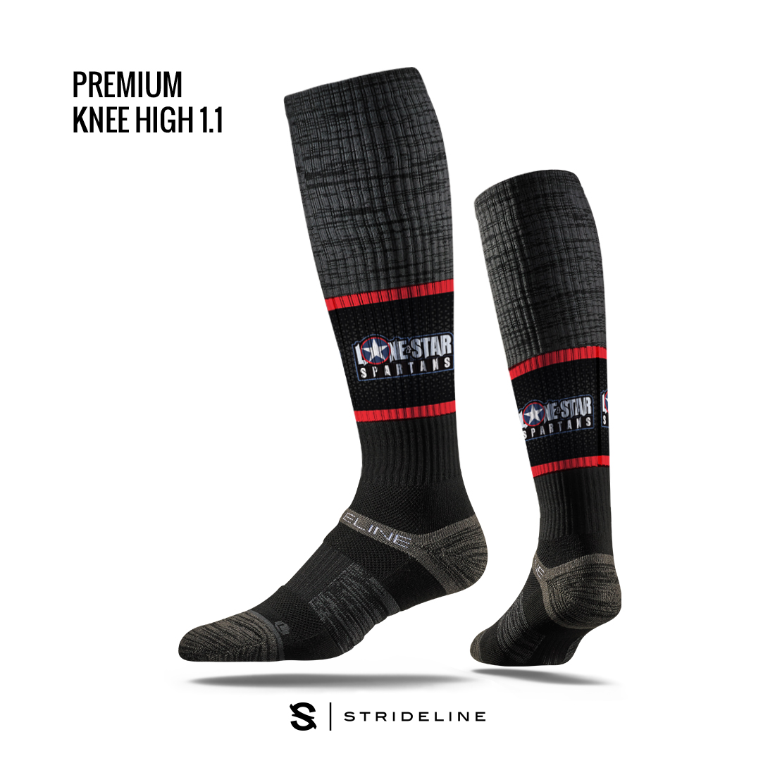 LSS Compression Knee High Sock black