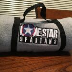 Lone Star Spartans Fleece Stadium Blanket in Heather color
